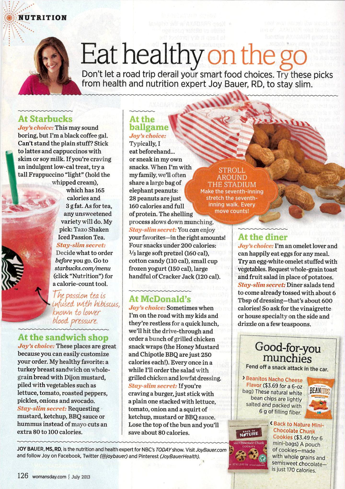 Joy Bauer Eat Healthy