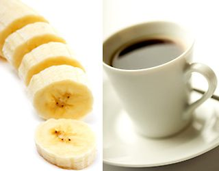 banana and coffee, Best Foods for Workout,. Food Cures