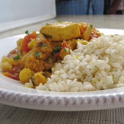 Chicken Curry and Vegetables