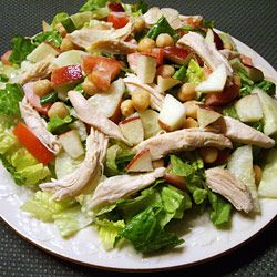 Chopped Chicken Salad with Apples and Walnuts