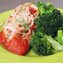 Healthy Chicken Parmesan and Broccoli