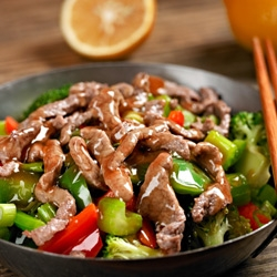 Orange Pepper Beef Stir-Fry