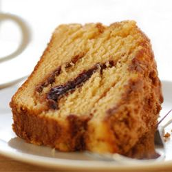 Sour Cream Coffee Cake with Cinnamon and Walnuts