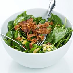 Warm Turkey Bacon-Spinach Salad